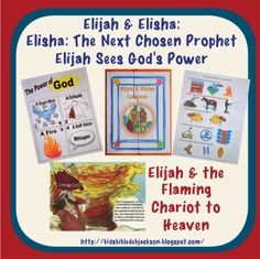 Elijah & the Flaming Chariot to Heaven