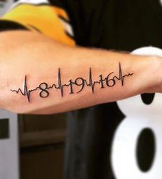 tattoos for guys ~ tattoos for women . tattoos for women small . tattoos for moms with kids . tattoos for guys . tattoos for women meaningful . tattoos with meaning . tattoos for daughters . tattoos on black women Tattoo Kind, Ekg Tattoo, Arrow Tattoo, Alien Tattoo, Tattoo Quotes, Tattoo Mom, Verse Tattoos, Tattoo Baby, Family Tattoos For Men