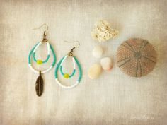 Preview of something new coming soon :)  earrings handmade by PetiteFraise Handmade  #handmade #jewelry #boho #bohemian #ethnic #indian #american #native #earrings #feather