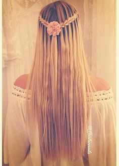 scissor waterfall braid                                                                                                                                                                                 Más