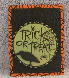 I just listed Trick or Treat Raven A2 handmade Halloween greeting card dimensional spooky on The CraftStar @TheCraftStar #uniquegifts