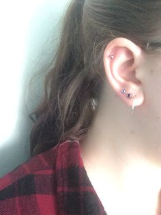 Helix and lobe piercings