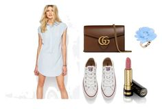 """""""blue hues"""" by katherine-afia-emley on Polyvore featuring Vero Moda, Converse, Gucci and Dettagli"""
