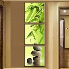 Wall Art Picture Modern Home Decoration Living Room Or Bedroom Canvas 3 Panel Bamboo And Stones Print Painting Wall Picture Interior Design Living Room, Living Room Designs, Living Room Decor, Living Room Pictures, Wall Art Pictures, Illustrator Tutorial, Bamboo Landscape, Image Deco, Green Wall Decor