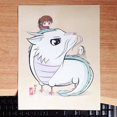 Studio Ghibli - Spirited Away fan art.  Haku is so cute!!!
