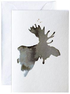 Elg, kunstkaart Elise Stalder, www.bryggen.nl