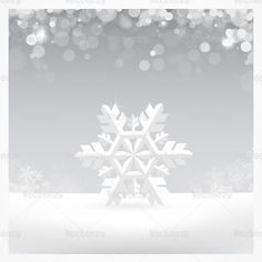 Silver snowflake vector background!