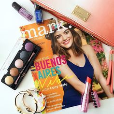 """""""Saturday #WhatsInMyBag: New Nailed It Minis, Caliente Eyes Eye Shadow Palette, Looking Sharp Bracelets, All Butter Now Lip Treat & our Buenos Aires Magalog!"""" -markgirl Instagram www.youravon.com/ericagerlemann"""