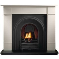 Gallery Brompton Stone Fireplace with Crown Cast Iron Arch Fireplace Fronts, Wooden Fireplace, Limestone Fireplace, Victorian Fireplace, Home Fireplace, Marble Fireplaces, Fireplace Inserts, Fireplace Surrounds, Fireplace Design