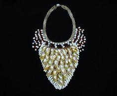 Handmade Pearl Necklace.Tribal Irian Braided by BorneoHunters, $198.20
