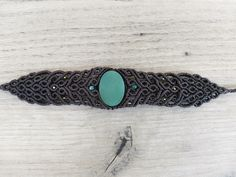 Macrame Aventurine Stone Beacelet   Etsy Macrame Earrings, Macrame Bracelets, Unique Bracelets, Butterfly Necklace, Green Aventurine, Beautiful Earrings, Crystal Beads, Hippie Boho, Turquoise Bracelet