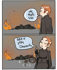 General Hux and Kylo Ren. Despacito - Ideas of Star Wars Kylo Ren - General Hux and Kylo Ren. Star Wars Witze, Star Wars Jokes, Star Wars Kylo Ren, Star Wars Fan Art, Star Wars Ships, Ragnar Lothbrok, Lagertha, Star Citizen, Fandoms