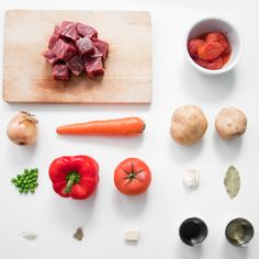beef caldereta. ingredients.