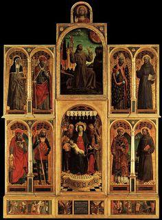 Il Polittico di Santa Maria delle Grazie, olio su tavola (413x291), 1500-1510, Pinacoteca di Brera a Milano VINCENZO FOPPA (Bagnolo Mella, 1427 circa – 1515 circa) #TuscanyAgriturismoGiratola