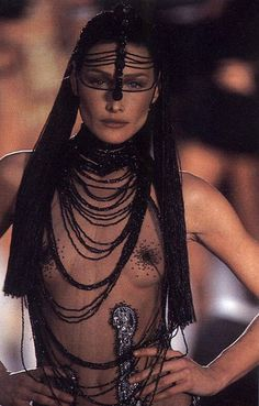 Sheer with statement jewelry Christian Dior by John Galliano Fashion show details