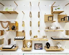 jewelry store display - As a brand that strives to combine the whimsy of Asian culture with luxurious Nordic design, this pairing is most apparent in Amber Dream's j...