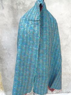 Vintage Silk Kantha Scarves, Kantha Silk Scarve, Handmade Silk Scarf, Silk 107