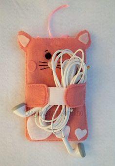Porta celular gatinho ♥