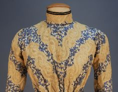 c.1902 Silk gown detail