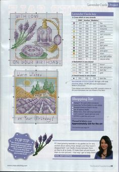 ru / Фото - The world of cross stitching 206 - tymannost Cross Stitch Cards, Cross Stitch Flowers, Counted Cross Stitch Patterns, Cross Stitch Designs, Cross Stitching, Cross Stitch Embroidery, Embroidery Patterns, Lavender Crafts, Art Nouveau Flowers