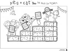 82 best pbs coloring pages images on pinterest printable for Peg cat coloring pages