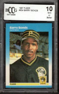 1987 Fleer Barry Bonds Rookie Card #604 Mint. 10  - T0267