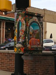traffic light control box painting in Columbia, MO #DiscoverTheDistrict