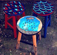 Banquetas www.juamora.com ateliejuamora@gmail.com #juamora #stool #banqueta #retro
