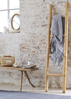 1000 id es sur le th me porte serviettes en forme d - Echelle en bambou pour salle de bain ...