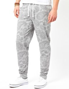 Skinny Sweatpants With Paisley Print on Wantering