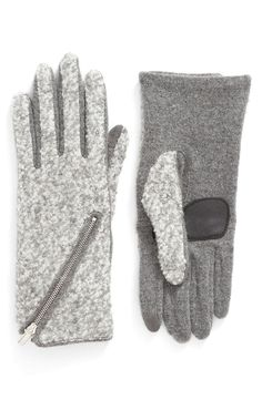 Ensuring the fingers stay warm on chill days with these tech-savvy gloves that can be worn while using touchscreen devices.