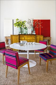 Mexican textile chairs