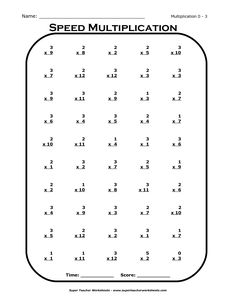 Times Tables Worksheets 3rd Grade Basic Multiplication Table