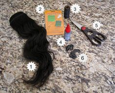 How to sew your own weave clips in extensions crafty how to sew clips to weft hair and make your own extensions pmusecretfo Choice Image