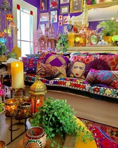 33 Stunning Bohemian Living Room Decor Ideas - The adjective 'shabby' has been given new life, especially after the Bohemian aesthetic came into vogue in the and It is a look that aims to . Colourful Living Room, Boho Living Room, Living Room Decor, Bedroom Decor, Decor Room, Colourful Home, Colourful Bedroom, Colorful Apartment, Barn Living