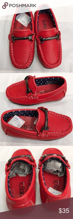1d171a10743 Boys loafers red size 4 toddler This item is new. Comes with box. Comes  from size 4-8 toddler. Any questions please message me tony Shoes Dress  Shoes