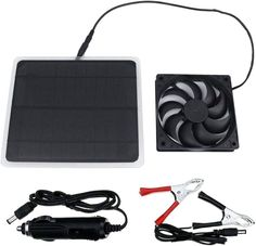 USB Cooling fan powered by solar panel; Package includes 1 piece solar panel + 1 piece USB fan. Portable, Small Size, Easy to carry around. No Batteries Needed, 100% Silent and Green energy, great for environment. The solar panel runs the fan fast under direct sunshine.the solar Fan will working more slow or stops working when the sunshine is weak. Our fan is special solar and working with our plan is faster. Solar Powered Attic Fan, Solar Attic Fan, Solar Fan, Portable Fan, Portable Battery, Solar Roof Vents, Mini Ventilator, Solar Generator, Solar Power Panels
