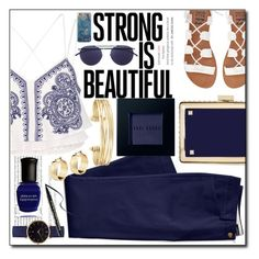 """""""Strong is Beautiful #104"""" by laa-douleur-exquise ❤ liked on Polyvore featuring Lands' End, Billabong, Vanessa Mooney, River Island, Valentino, Mykita, Stella & Dot, Bobbi Brown Cosmetics, Deborah Lippmann and Too Faced Cosmetics"""