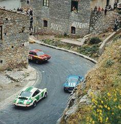 Targa Florio 1971, Lancia Fulvia HF, Porsche 911 ST, Alpine A110