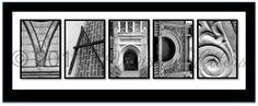 Vandy - Alphabet photos taken on the Vanderbilt University campus in Nashville, TN!  My personal favorite of all the photos from Varsity Letters on Etsy! #Vanderbilt #Vandy