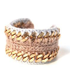 Βραχιόλι Knitted Cuff Sand  www.myfashionfruit.com