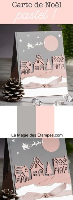 Le lot Ensemble à Noël, permet de réaliser des cartes originales pour Noël Stampin' Up! 2017