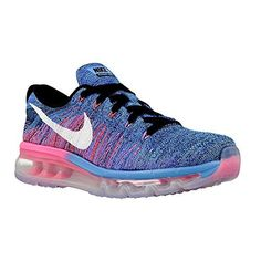 ddbb6215363 Nike Womens Wmns Flyknit Max BLACKWHITEBLUE GLOWRACER BLUE 55 US -- Click  image for more details. (This is an affiliate link)  NikeShoes