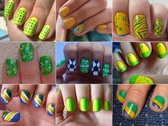Unhas Decoradas para a Copa do Mundo 2014 | Unhas Decoradas