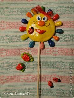 Поделка изделие Лепка Украшения для цветочков Тесто соленое фото 9
