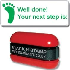 Stackable Well Done Your Next Step is Pre Inked School Teachers Progress Feedback Marking Stamper Stamp Primary Teaching Services Target Setting, Green School, Office Branding, Primary Teaching, Consumerism, School Teacher, Wands, Wellness, Stamp