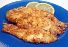 Baked Parmesan Fish Healthier and tastier way to serve fish. I have used flounder, catfish, grouper, perch and tilapia with great results.If your fish is not getting crispy try broiling it for a minute or so to get it crispy. Oh and parmesan from a can is Seafood Dishes, Fish And Seafood, Seafood Recipes, Great Recipes, Cooking Recipes, Healthy Recipes, Cooking Fish, Cooking Hacks, Fodmap Recipes