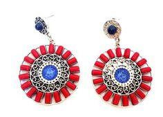 Brinco Inca 01 Vermelho e Azul
