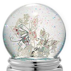 Personalized Butterfly Water Globe , Add Your Message