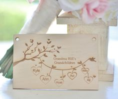 Personalized Christmas Ornament For Grandma Grandkids Grandchildren Custom Engraved Gift for Grandmother on Etsy, $9.99